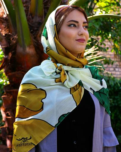 روسری نخی جذاب و زیبا