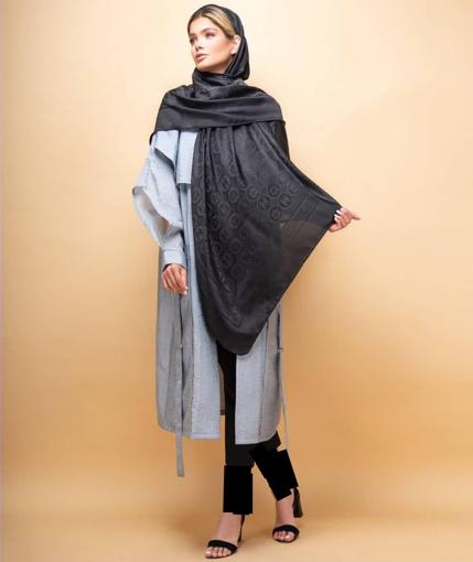 روسری مشکی ابریشم یونیک
